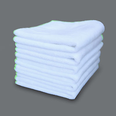 6PCS Ultra Soft Microfiber Car Wax Polishing Towel Cleaning Cloth White Use Home