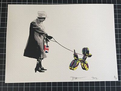 Death NYC Limited Ed Signed Graffiti painting Pop Art Print(88) Queen Dog Pop YP