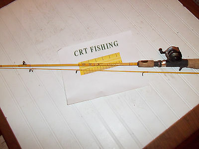 """Wally Marshall Crappie Reel On  Eagle Claw Feather Light 4'10"""" 2 Pc  Rod Combo"""