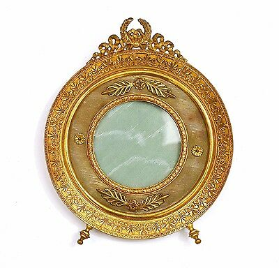 Antique French Empire Style Gilt Brass Ormolu Picture Photo Frame