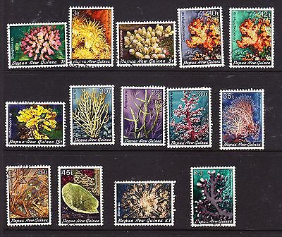Papua New Guinea  1982 Coral Comp Set Used 440/452