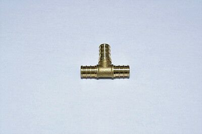 """1/2"""" Brass Pex Tees Lead Free Crimp Fittings Lot Of 20 Pieces"""