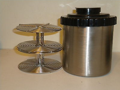 Kinderman Stainless Steel   35Mm Developing Tank With  2 Reels