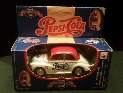 Vtg Pepsi-Cola Custom Replica Collection Die Cast Volkswagen Bug Car New in Box