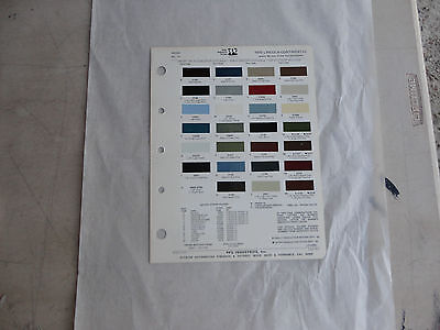 Ditzler paint chip page 1970 Lincoln Continental Mark III & Ford Thunderbird