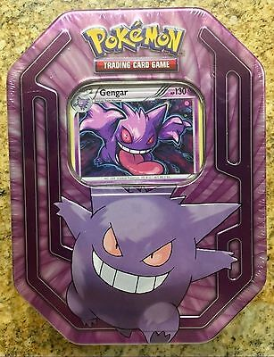 NEW Pokemon Champions 2016 RARE Tin Gengar Booster Packs Factory Sealed