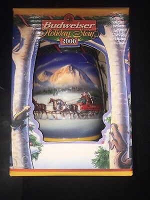 Budweiser 2000 Holiday Collector Stein Original Box With COA Holiday In Mountain