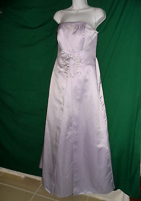 MICHAEL ANGELO 8004 Strapless Beaded Bridesmaid Formal Prom Dress Ball Gown 4 S