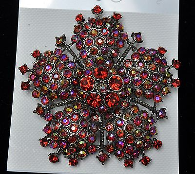 Vintage flower Style Brooches antique red color high-quality Bouquet UT-02