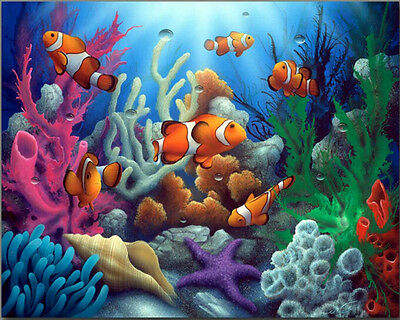 Painting by Number Kit (Framed) 40*50CM Colorful Fish S2 KID DIY F009 OZ STOCK