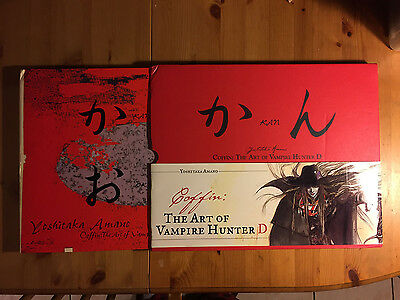 Yoshitaka Amano Coffin: The Art of Vampire Hunter D Art Book with Slipcover