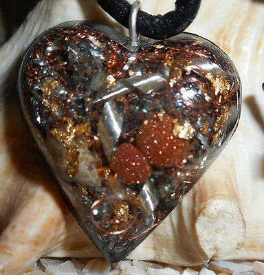 Orgone Pendant Experience Powerful Crystal Healing - Goldstone