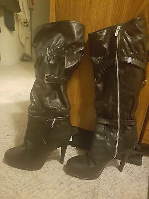 Gorgeous Michael Kors Leather Boots Size 10 Womens