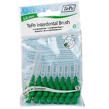 TePe Interdental Brushes - Green Medium 0.8mm - 1 Pack of 8 Brushes
