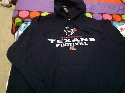 Men's NFL Houston TEXANS football Blue Hoodie - XL , New
