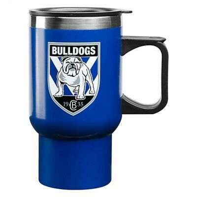 Canterbury Bulldogs Official NRL Stainless Steel Insulated Travel Mug Handle Cup