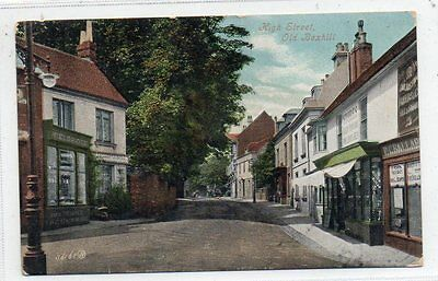 """"" Postcard High Street,old Bexhill,sussex,dated 1907"""""