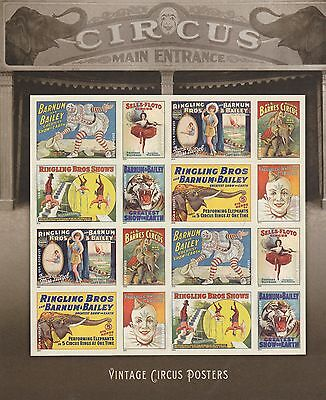 BARNUM & BAILEY CIRCUS US Scott #4898-4905 VINTAGE POSTERS 16 Forever MVF Stamps