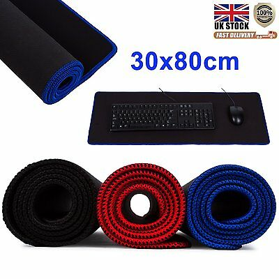New 80*30cm Pro Gaming Game Mouse Rubber Pad Mat for PC Laptop Computer Keyboard