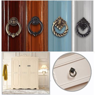 Cabinet  Knobs Dresser Drawer Drop Ring Pulls Handle Cupboard Single-hole