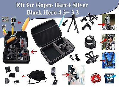 GoPro Kit 15-in-1 Essentials Accessories for Outdoor Sports Camera on Head Case