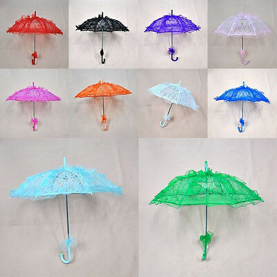 Elegant Women Lace Sun Umbrella Voile lace Parasol Bridal Wedding Party Decor