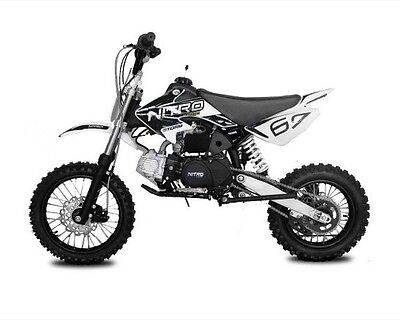 Dirtbike Storm 125 ccm Nitro 14/12 4-Gang Manual mit Kick-Start Crossbike