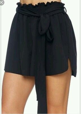 black milk black flouncy shorts