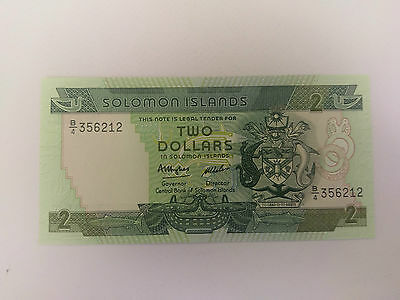 SOLOMAN ISLANDS banknote 2 Dollars - 1986 looks uncirulated