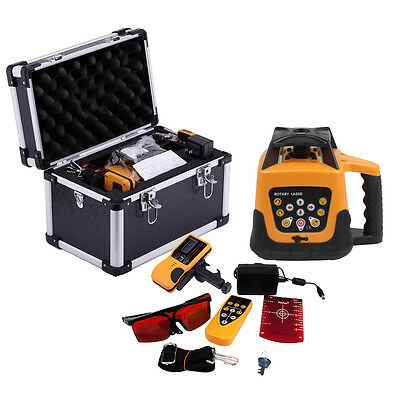 Self-leveling Rotating Laser Level Automatic Rotary Red Beam 500m Range