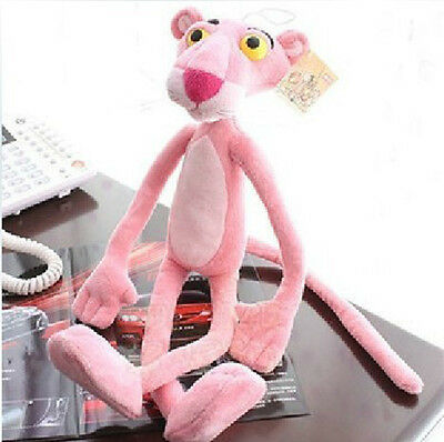 12` Naughty Pink Panther Plush Stuffed Bendable Toy Home Bed Car Decor Kids Gift