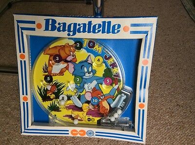 """Very rare 1970 """" Louis Marx"""" Tom and Jerry bagatelle MIB"""