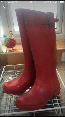 Town & Country Wellington Boots- Red Size 7