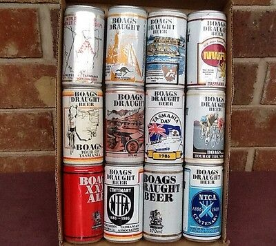 12  Mixed Very Old Boags Beer Cans