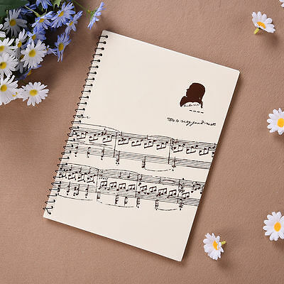 100Pages Musician Composer Manuscript Paper Book Stave Musical Notation Notebook