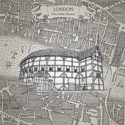 'THE GLOBE THEATRE' Limited Edition Print (numbered & signed by the artist)