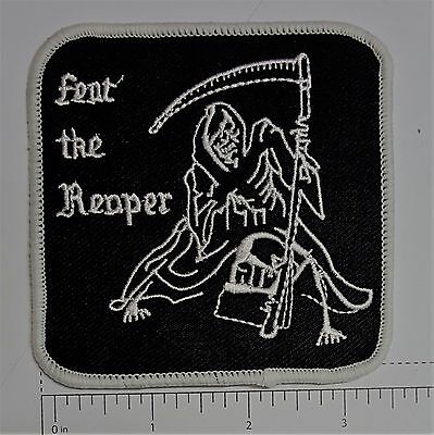 Rear The Reaper Outlaw Biker Funny Motorcycle Iron On Small Patch