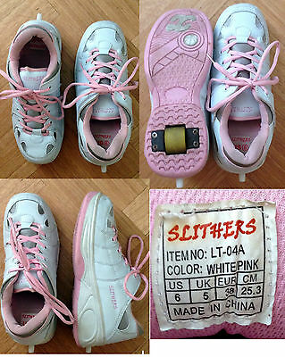 SLITHERS WHEEL SHOES - Pink and white - Excellent condition