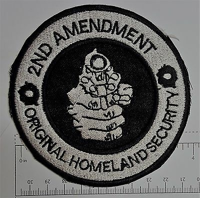 2nd Amendment Outlaw Biker Funny Motorcycle Iron On Small Patch