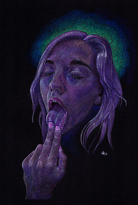 """""""170214 A4"""" Original Drawing by Dale Keogh prismacolor"""