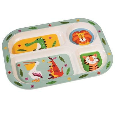 NEW Rex Melamine Divided Childrens Plate - Animal Creatures