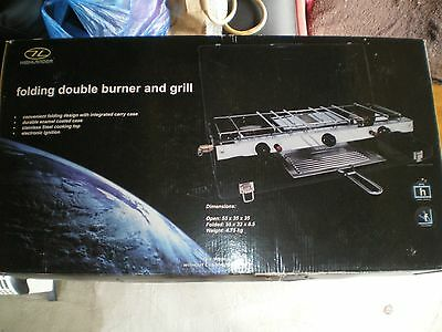 Camping Folding Double Burner And Grill