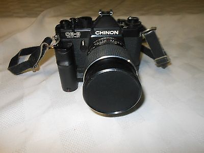 Chinon CE-3 35mm Film Camera SLR  Japan Vintage - f=135mm 1:2.8 Lens