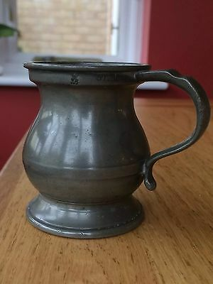 Victorian Gill Pewter Measure