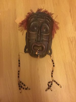 Original Large Wooden Mask From Bali