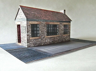 7mm Scale Yard Office and Weighbridge Card Model Kit Ideal For O Guage Railways