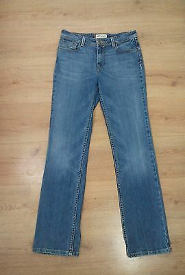Levi's straight blue high rise jeans size 10