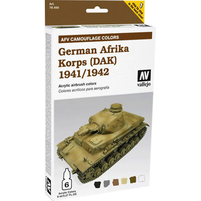 (24,54€/100ml) Vallejo AFV Armour Painting System German Afrika Korpus (1941/42)