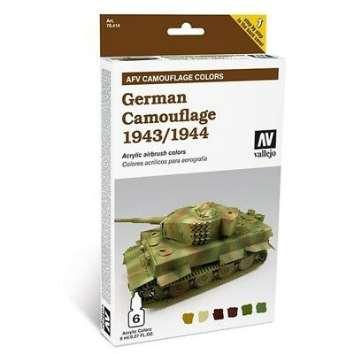 "(24,54€/100ml) Vallejo AFV Amour Painting System ""German Camouflage 1943/1944"""