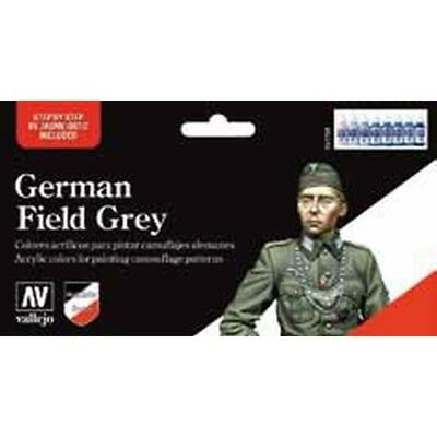 "(14,43€/100ml) Vallejo Model Color "" German Field Grey""  Airbrush Farben Set 570"